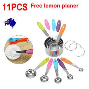 Multi-size 10pcs new stainless steel measuring cup spoon kitchen baking teaspoon