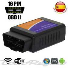 Ociodual ELM327 Version 1,5 Wi-Fi Conector E OBD 2 II Inalambrico para Windows Android iOS - Negro