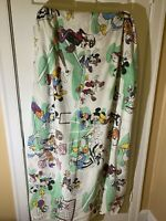 Vintage Disney Sports  Mickey Mouse Twin Fitted Sheet Minnie Mickey Donald