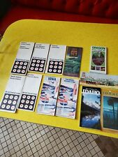 13 Vintage Road Maps Old Gas & Oil Advertising Mobil and Standard oil and other