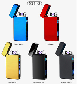 USB Double Arch Pulse Plasma Lighter Rechargeable Windproof Flameless Electric