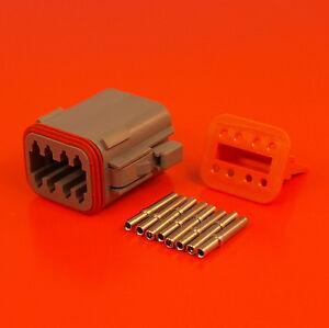 Deutsch DT Series 8 Way Plug Connector Kit DT06-08SA C/W Pins & Wedglock