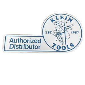 Vintage Klein Tools Decal 1980s Authorized Distributor Est 1857