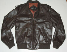 MEN'S VINTAGE 1980s MEMBERS ONLY CAFE RACER BROWN LEATHER MOTORCYCLE JACKET! 40