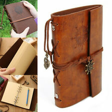 A6 Vintage Pirate Ship Notebook Sketchbook Diary Leather Book Travel Journal