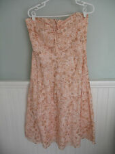 J. Crew Peach Floral Strapless Summer Dress - Size 8