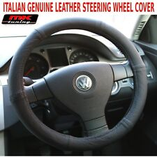 VW T4 T5 Van Transporter Caravelle Black Perforated Leather Steering Wheel Cover