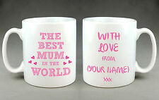 Personalised Best Mum in The World Mug Cup - Mother's Day Birthday ...