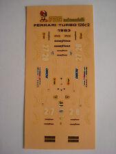 F1 DECALS 1/43 KIT FERRARI 126 C2 TURBO 1983 GP IMOLA TAMBAY ARNOUX DECALS