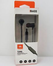 JBL T290 Aluminum In Ear Headphone Earbuds Tangle Free Cord Microphone - NEW