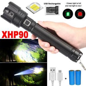 3000lm Taschenlampe XHP90 3 Modi USB LED Wiederaufladbar Wasserdicht IPX-6 DE