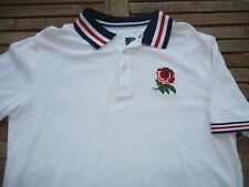 ENGLAND COTTON TRADERS RUGBY FOOTBALL UNION POLO SHIRT TOP MEDIUM