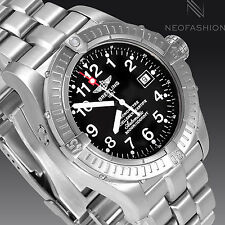 BREITLING AVENGER SEAWOLF 44MM TITANIUM CASE BLACK DIAL DIVERS MENS WATCH E17370