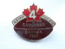 Canada 4th Congress 1983 Rugby Union Enamel Badge