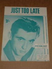 "Peter Jay ""demasiado tarde"" Joe meek/rgm Partituras"