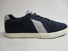 Polo Ralph Lauren Size 11 M HUGH Navy Canvas Fashion Sneakers New Mens Shoes
