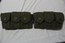 US Military Issue WW2 Korea Vietnam M 1 Garand Ammo Cartridge Belt GB2