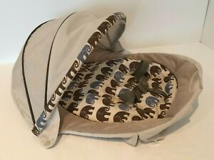 Graco Soothing System Glider Swing Replacement Seat Cover with Canopy Elephants