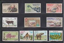 (U2-30) 1987 Laos mix of 19stamps 0.10 to 7.50K (D)