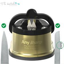 AnySharp PRO CHEF METALLIC GOLD Precision Kitchen Knife Sharpener - 100% Genuine