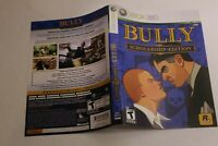 Bully Scholarship Edition Xbox 360 replacement cover art insert only! original