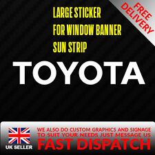 TOYOTA Sticker Badge for Sun strip Vinyl Decal Banner Sponsor Visor JAP JDM