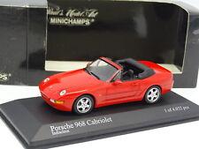 Minichamps 1/43 - Porsche 968 Cabriolet Rouge