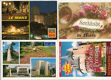 Lot 4 cartes postales SARTHE LE MANS