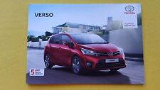 Toyota Verso Active Icon Design brochure car sales catalogue December 2016 MINT
