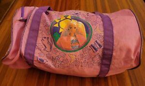 BARBIE DUFFEL BAG VINTAGE PINK LUGGAGE DUFFLE GYM TRAVEL DOLLS TOYS GIRLS ADULT