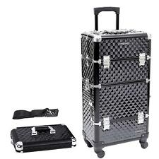 Rolling Nail Art Beauty Makeup Cosmetic Case Trolley Suitcase Box On Wheels