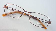 Moxxi elegante Brillenfassung Metall braun Herrengestell Spaltbügel große Form M