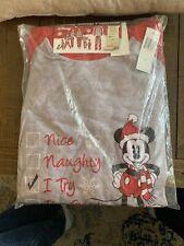 Disney Mickey Mouse Men's 2 Piece Sleep Set, XL, Pajamas PJs, New with Tags