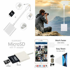 Camera Reader Adapter For IPhone 7/6s/6/Plus/IPad/Mini/Air Lightning To SD Card