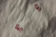Linen sheet antique French 78X101 slipcover upholstery fabric linen cotton