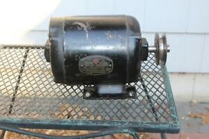 Vintage Marathon Electric Motor 1/2 HP, 1725 RPM, 7.5 A, Runs Smoothly, Desc