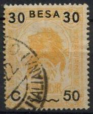 Italian Somaliland 1922 SG # 27, su 30b oppure su 5A Giallo Arancione Lion Usato #A 92187