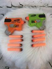Hasbro Nerf Mini Orange and Green SET of 2 Dart Tag Blaster Pistol W/ 10 Darts