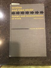 Motion and Time Study: design and measurement if work (Hardback) By Barnes