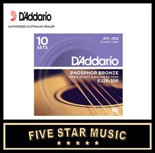 D'ADDARIO EJ26 10 PACK ACOUSTIC GUITAR STRING SETS 11-52 J26 NEW PRO DADDARIO