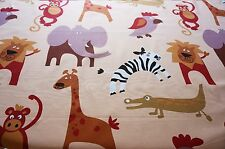 FURNISHING Heavy Cotton Fabric LARGE PRINT JUNGLE ANIMALS by HALF METRE #70
