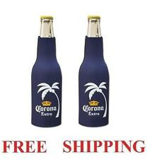 Corona Extra Palm 2 Beer Bottle Zip Up Cooler Huggie Coozie Coolie Koozie New
