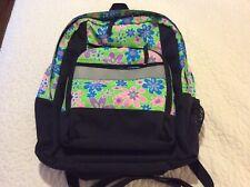 L.L. BEAN Women's Girls Pack Backpack School Bag Green  Pink Blue Purple Daisies