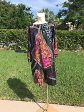 ETRO MULTI COLOR SILK PRINT 3/4 SLEEVE TOP / SKIRT SET Sz 42 MADE IN ITALY
