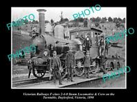 OLD 8x6 HISTORICAL PHOTO OF DAYLESFORD VICTORIA VICTORIAN RAILWAYS TRAIN 1890
