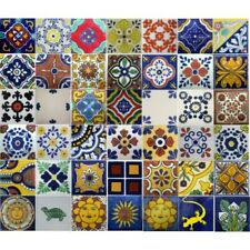 Mexican Talavera Ceramic Frost Proof Tiles Handpainted unique mixed selection