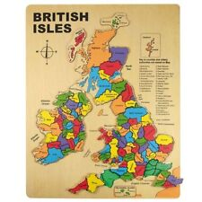 Wooden Maps 15 - 25 Pieces Jigsaw Puzzles