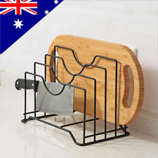 AU! Pan Pot Cover Lid Rack Stand Cutting Board Holder Kitchen Organizer 4 Layer