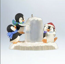 2012 Hallmark PENGUIN Ornament POSTAL PENGUINS Mailing Letter *Priority Ship*