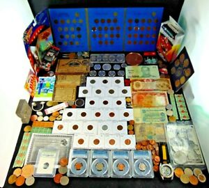 US Coin Collection Lot Silver Morgan Kennedy Buffalo Large Cent Panini Prizm +